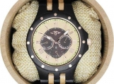 Engraved Ebony Men's Watch (W108)