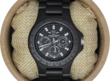 Engraved Ebony Men's Watch (W118)