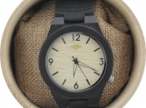 Engraved Ebony Men's Watch with Bamboo Dial (W083)