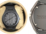 Engraved Ebony Men's Watch With Ebony (W034)