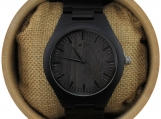 Engraved Ebony Men's Watch With Matching Ebony Bracelet (W040)