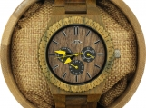 Engraved Green Sandalwood Men's Watch (W144)