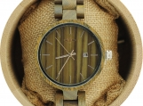 Engraved Green Sandalwood Unisex's Watch (W062)
