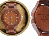 Engraved Laser Engraved Red Sandalwood Men's Watch (W063)