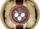 Engraved Maple Men's Watch Maple and Red Sandal Wood Watch(W122)