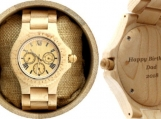 Engraved Maple Men's Watch With Maple Bracelet (W010)