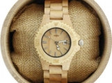 Engraved Maple Women's Watch With Maple Bracelet (W038)
