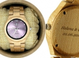 Engraved Maple Women's Watch With Maple Bracelet (W125)