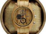 Engraved Maple Wood Men's Watch with Maple Wood Watch (W055)