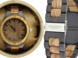 Engraved Olive Wood Men's Watch (W005)