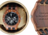Engraved Red Sandalwood Men's Watch (W004)