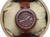 Engraved Red Sandalwood Women's Watch (W044)
