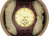Engraved Rosewood Men's Self-Winding Watch  (W113)