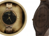 Engraved  Teak Women's Watch (W049)