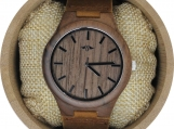 Engraved Walnut Men's Watch (W099)