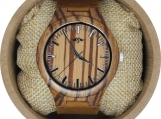 Engraved Zebrawood Men's Watch (W105)