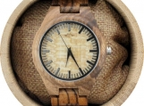 Engraved Zebrawood Men's Watch with Zebrawood Band (W076)