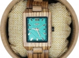 Engraved Zebrawood Women's Watch (W127)