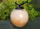 Giant Peach Urn or Decorative Jar