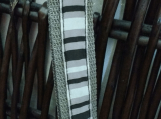 Gray-Black-White Striped Key Fob
