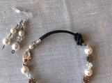 Handcrafted Swarovski Pearl And Crystal Bracelet/Earrings