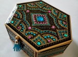 Handmade Jewelry box in oriental style