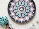 Handmade Mandala decorative plate