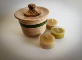 Lidded Hardwood Tealight Holder