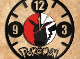 Pokemon Pikachu Wall Clock Vinyl Record Clock