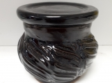 Pottery Butter Bell French Butter Dish black