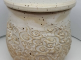 Pottery French Butter dish., butter bell speckled stoneware