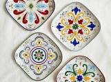 Set of 4 Decorative Plates in Talavera style