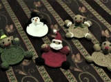 Set of 5 Christmas Character Coasters