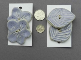 Set of Pale Mauve Flower or Leaf Shaped  Buttons