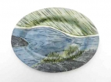Small Northern River Platter: handmade stoneware pottery