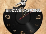 Snowboarding Wall Clock Vinyl Record Clock home decoration
