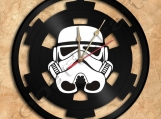Star Wars Stormtrooper Star Vinyl Record Clock Free Shipping