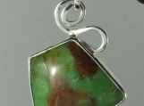 Sterling Silver Pendant with Chrysoprase
