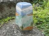 Summer Lake Stoneware Urn,  Half Size Urn, Landscape Urn