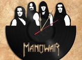Wall Clock Manowar Vinyl Record Clock