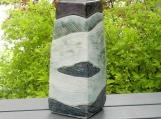 XL Green River Stoneware Urn, Landscape Urn