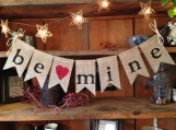 Be Mine Banner, Valentines Day Bunting, Valentines Day Banner, Valentines Day Garland, Valentines Pennant, Be Mine Bunting, Valentine