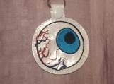 Blue Bloodshot Eye, Glitter White