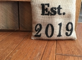Burlap Doorstop, Fabric Doorstop, Rustic Door Stop, Burlap Feed Sack, Farmhouse Decor, Hessian, Door Hold, Door Stopper, House Warming