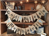 Burlap First Communion or Baptism Banner