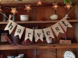 Burlap Harvest Bunting, Fall Banner, Autumn Bunting, Autumn Banner, Thanksgiving Bunting, Fall Wedding Decor, Autumn Wedding Bunting