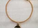 Christian scripture bible verse bracelet made in Canada - Gold