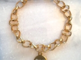 Christian scripture bible verse charm bracelet in Canada - Gold