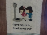 Don't Step On It Hand Towel
