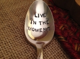 Engraved Silver Coffee Spoon, Hand Stamped Silver Spoon, Inspirational Saying, Gift, Silver Teaspoon, Tea Spoon, Hand Stamped Teaspoon